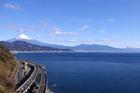 旧東海道の難所から望む富士